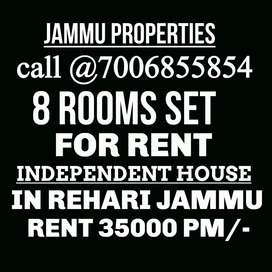 8 ROOM SET INDEPENDENT HOUSE FOR commercial &RESIDENTIAL USE IN REHARI