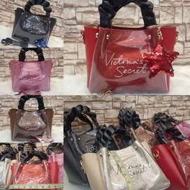 New arrival Victoria's Secret bag with long strap and star key chain