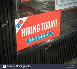 DOMINOS process jobs For Delivery boys/Biker in NCR with best SaIary