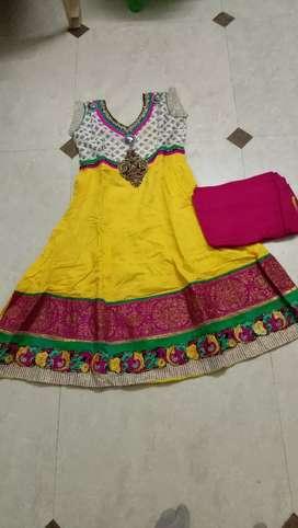 Party wear dress with dupatta