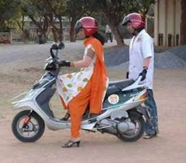Scooty driving