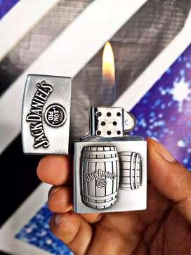 Korek api gas jack daniels silver model zippo