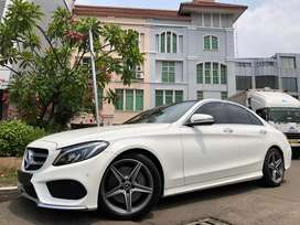 C300 AMG 2018 Nik18 White Km10rb Panoramic Sunroof PBD HUD Wrnty3Thn