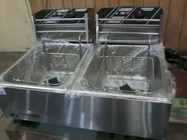 Electric commercial fryer single and double