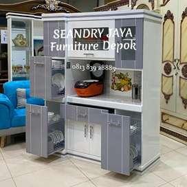 SEANDRY JAYA Furniture Depok/lemari piring kayu/sayur/makan/murah 4 P