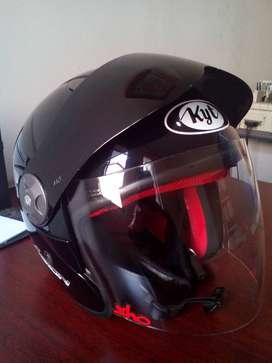 helm KYT 2 Vision hitam ukuran M / TT ok
