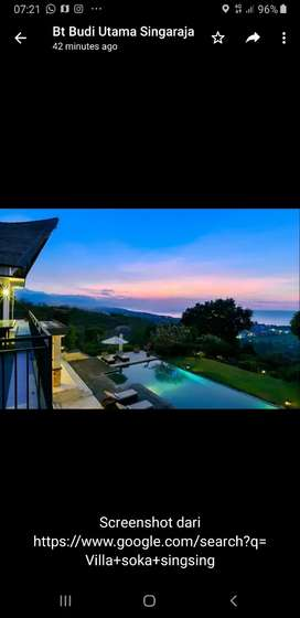Sea view villa 5 bedroom H 8.5M lovina Bali