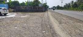 Jual tanah darat jalan raya pantura karawang subang