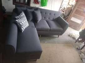 Sofa L Putus Ready Stok