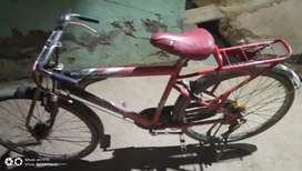 A bicycle is very good condition