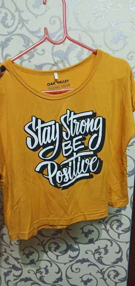 Mustard colour t-shirt