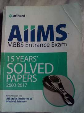 Arihant AIIMS 15 years solved papers(2003-2017)