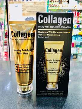 Collagen face wash for anti aging, anti wrinkle, youthful skin