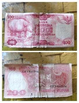 Uang kuno IDR 100 THUN 1997 DAN 1992
