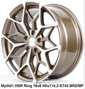 velg mobil Honda Civic type->MYTH01 HSR R18X8 H5X114,3 ET45 BRZ-MF