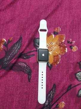 Apple Watch 3 Series 38mm Silver Aluminum White + Pink Sand Sport Band