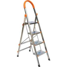 4 Step Stainless Steel Household Ladder
