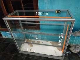 etalase kaca ukuran 100x90