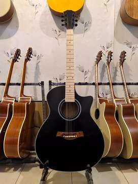 Gitar meranti fretboard maple blackdofd