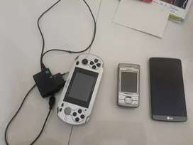 Lg mobile oh , nokia mobile phone, video game with charger