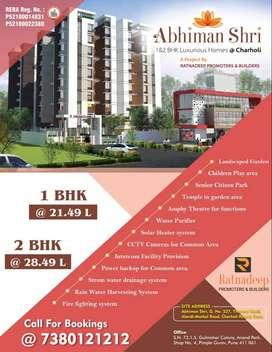 *Grand 1BHK 650sqft Luxury Apartment/ for Sale at Charholi, Nr Alandi