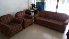 Sag wood sofa 6 seat and naksi work