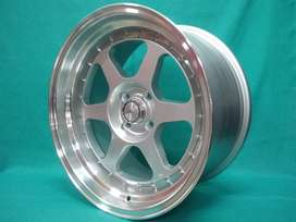 Velg racing hsr Ring17 cocok Buat jazz Yaris Swiift Mobilio Freed