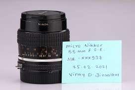 Nikkor Micro 55 mm f2.8 lens