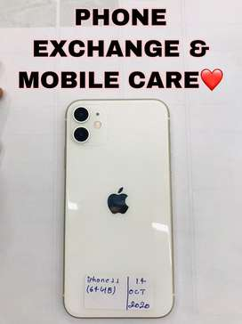 IPhone 11 (64GB) White Colour 10 Months Old Available