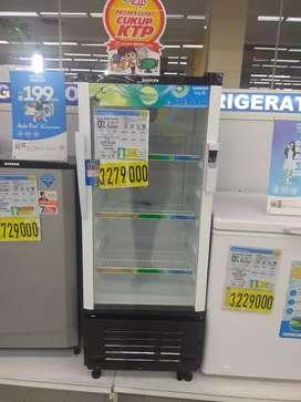 Kulkas transparan cocok untuk jualan bisa di cicil cukup bayar admin