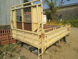Tata 407 3 side open type of steel body available
