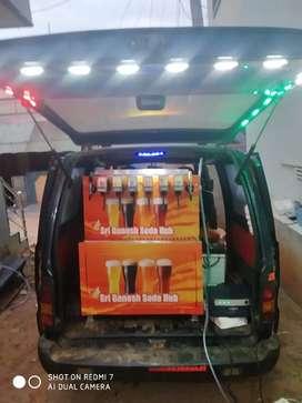 Mobile van soda fountain machine for vechile