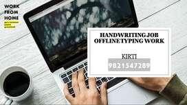 HANDWRITING JOB (HOME BASED WORK)