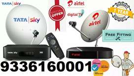New Tata sky Dth & Airtel setup box dish connection cash on delivery