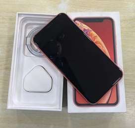 iPhone XR 128GB coral brand new mobile  with box kit