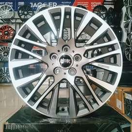 Velg HSR Akita JD380 R18X7.5 H5X114.3 ET45 Dark Grey Machine Face