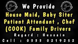 Trusted Agency Provide, Nannies, Attendant, Maid, Cook, Driver, etc