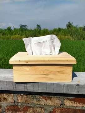 Kotak tissue jati belanda