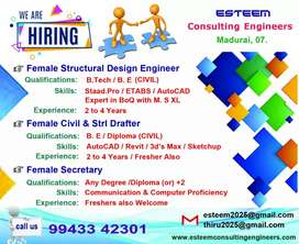 Design Engineer (Civil & Structure) Female only