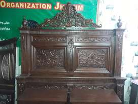 wood double bed chinoti