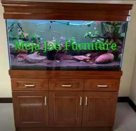 Meja bifet Aquarium kaca kode C543 minimalis