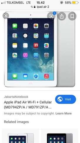 Ipad air 2 wifi cell murah