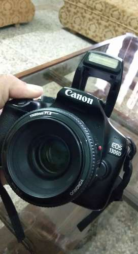 Canon 1300D with 75-300 and 50mm lense