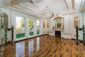 Elegant wooden floor or pvc skirting.