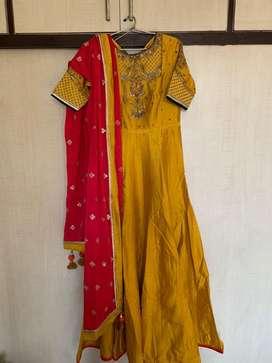Anarkali Suit Raw Silk