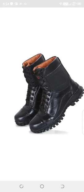 Combat men army brown shoes