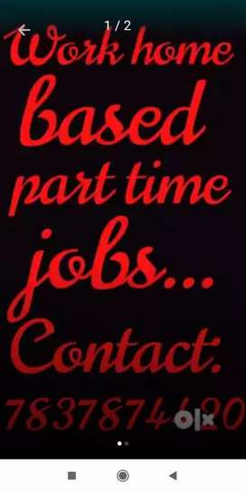Required home based job from home just contact us now