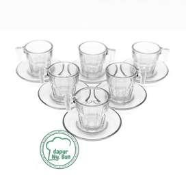 Mini Cangkir Set Kaca / Espresso KACA / Perlengkapan Foodphotography