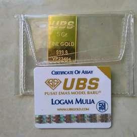Logam Mulia Emas Batangan LM UBS 5 Gram 24 Karat