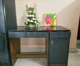 Sturdy Dark Hard Wood Desk (For Decoration, kids use, study table)